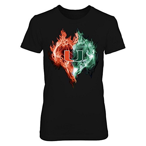 Hurricanes Heart (Miami Hurricanes - Ice Heart - Gildan Women's T-Shirt - Officially Licensed Fashion Sports Apparel)