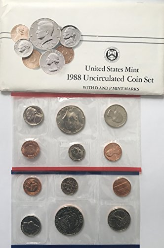 1988 P D US Mint Set 10 Piece Comes in the Original Packing from the Mint - Mint 1988
