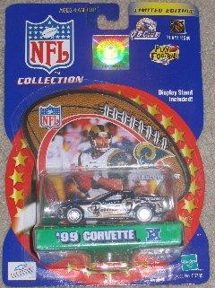 St. Louis Rams Kurt Warner 2000 Winner's Circle NFL Diecast Corvette with Kurt Warner Display Stand by NFL