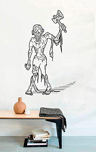 FSDS Vinyl Wall Decal - Dead Zombie Horror Ax Halloween - Home Decor Sticker Vinyl Decals