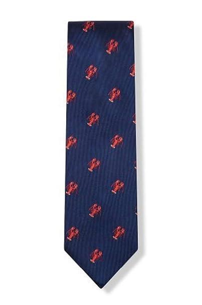 c4cfa0a2a007 Men's 100% Silk Navy Blue Red Lobster Necktie Tie Neckwear: Amazon.ca:  Clothing & Accessories