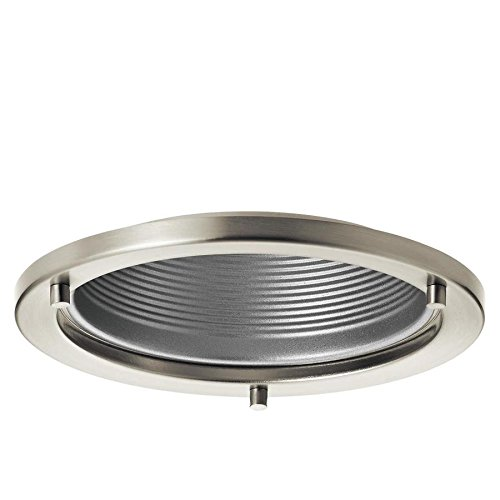 Kichler Marita Brushed nickel and silver Baffle Recessed Light Trim (Fits Housing Diameter: 6-in)