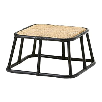 Ikea Nipprig 2015 Rattan Hocker In Schwarz 60x60x30cm Amazon De