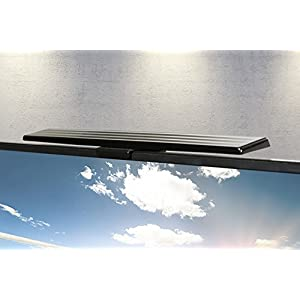 GE 37075 UltraPro Hover Bar HD 250 Amplified Antenna - Indoor VHF / UHF HDTV Antenna Bar - 50 Mile Range