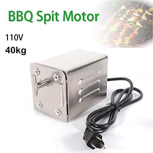 TBvechi Rotisserie Motor Stainless Steel BBQ Motor 40KG Pig Chicken Grill Electric Rotisserie Roaster 110V