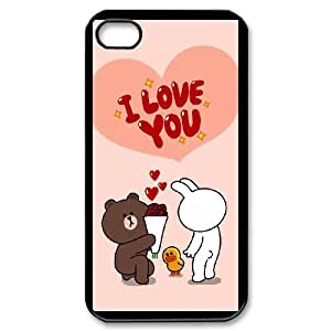 BearBrown&BunnyCony cameo For iPhone 4,4S Csaes phone Case THQ139568