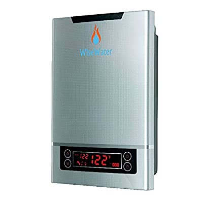 "WiseWater Tankless Water Heater Electric 27kW 3/4""NPT for Domestic Hot Water Heating in Kitchens, Bathrooms, Apartments, Cabins"