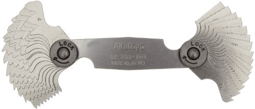 Mitutoyo 188-101, Whitworth Screw Pitch Gage, 4 to 42 TPI, 30 - Thread Whitworth
