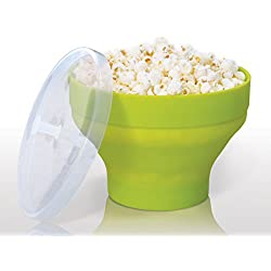 FlavorQuik Microwave Popcorn Popper Makes Healthier Popcorn with the Help of Steam