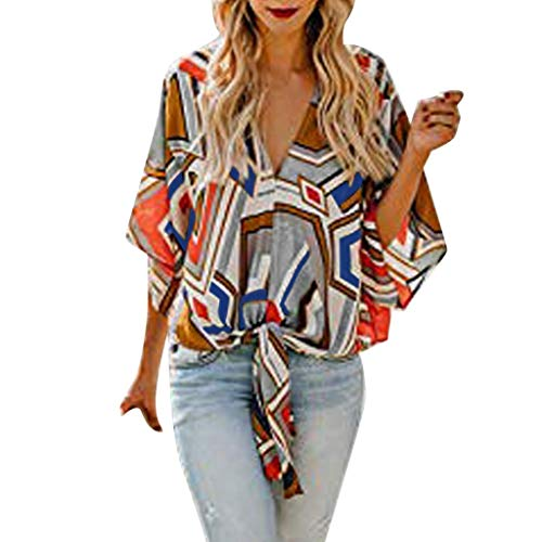 293f0915ba9cdf LIM&Shop Women Summer Tunic Top V-Neck Chiffon Shirt Casual T-Shirt Print  Tee