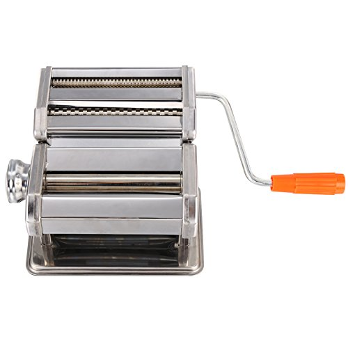 Pasta Maker Machine, Stainless Steel roller and cutter for Spaghetti , Fettuccine and Noodle , include 2 Blades (TYPE B) by Jaketen (Image #3)