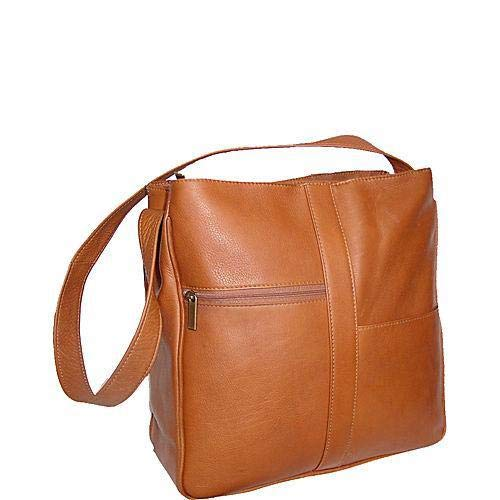 David King & Co. Double Top Zip Shoulder Bag 820 , Tan, One - Zip Handbag Top David King