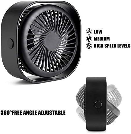 AUUUA Kleiner tragbarer Tischventilator Mini-Tischventilator mit wiederaufladbarem USB 3-Fach Leiser persönlicher Ventilator für Home Office und Reisen