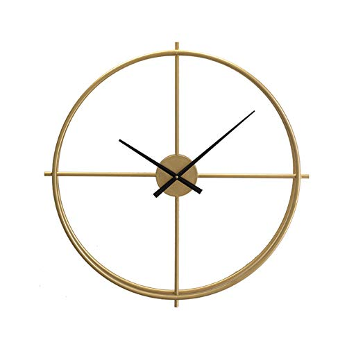 Modern Minimalist Nordic Clocks,Wrought Iron Living Room Home Wall Clock,Creative Art Trend Decoration Clock-A 54x54cm(21x21inch) ()