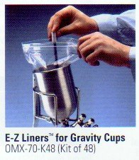 E-Z Liner Disposable Cup Liner Kit 48 Pc. Plus Adapters OMX70K48