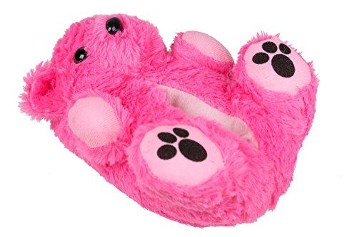 Unbekannt - Zapatillas de estar por casa de tela para niño Rosa - rosa