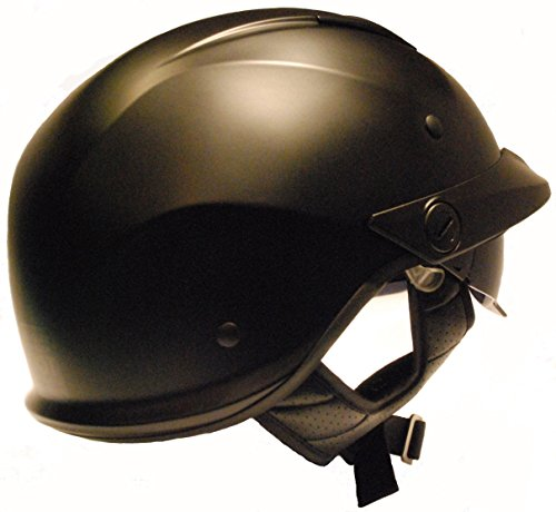 LS2 Helmets Rebellion Unisex-Adult Half Helmet Motorcycle Helmet (Matte Black, Medium) by LS2 Helmets