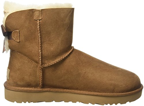 UGG Damen Mini Bailey Bow II Winterstiefel Kastanie