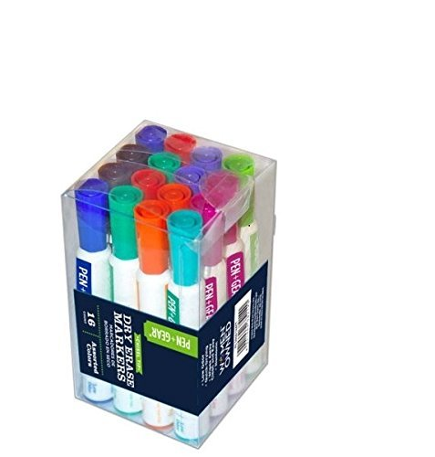 Gear Marker (Chisel Tip Dry Eraser Markers-Assorted Colors-16 count)