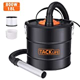 TACKLIFE 800W Ash Vacuum, 5 Gallon Blower/VAC 2 in 1, Double Stage Filtration System, Suitable for Pellet Stoves, Fireplaces and Wood Stoves, not Hot Ash PVC03A