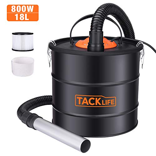 TACKLIFE 800W Ash Vacuum, 5 Gallon Blower/VAC 2 in 1, Double Stage Filtration System, Suitable for Pellet Stoves, Fireplaces and Wood Stoves, not Hot Ash PVC03A (Best Hot Ash Vacuum)