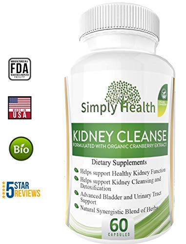 Best Kidney Cleanse Supplement: Premium Kidney Formula with Organic Cranberry Extract – Supports Healthy Kidneys, Bladder and Urinary Tract and Safe Detox. Suplemento Renal, Limpiezade de riñones