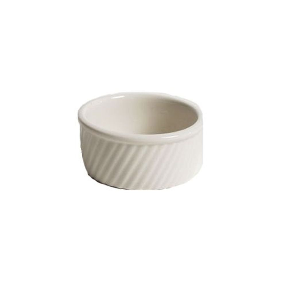 Hall China 498-WH White 8 Oz. Round Souffle Dish - 24 / CS