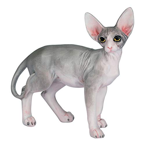 Willis Judd Sphynx Hairless Cat Standing Hand Painted Statue Figurine 4.3
