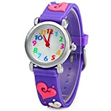 Eleoption Waterproof Kids Watches for Kid Girls Boys Toddlers Watch 3D Cute Cartoon Silicone...