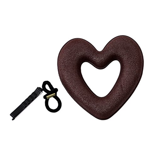 OrliverHL Heart Shaped Hair Hairstyle Foam Sponge Donut Maker Hair Bun Tools,Coffee