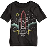Jumping Beans Boys 4-10 Rocket Astronaut Faded Graphic Tee 4 Charcoal Heather