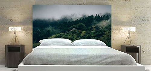 Forest 2 , Bed Headboard Panel, Square Shape Head of a Bedstead, Available in Sizes (King: 78 x 36 inch)