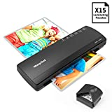 Laminator A3 A4, Morpilot Thermal Laminator Machines for Hot/Cold Laminating, Laminating Machine Fast 3-5 Mins Warm-up, Support Plate, Corner Rounder, 15 Laminating Pouches, for Office/Home/School
