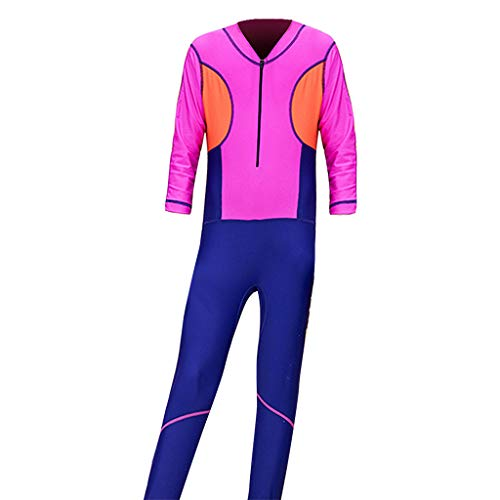 Kids Wetsuit One Piece Long Sleeve Surfing Diving Wetsuit Full Body UV Protection Thermal Swimsuit CapsA