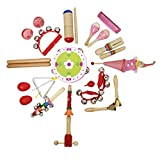 MagiDeal 22pcs Toddler Kids Percussion Musical Instruments Toy Set for Early Learning - Red, as described