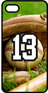 Baseball Sports Fan Player Number 13 Black Plastic Decorative iPhone 5c Case