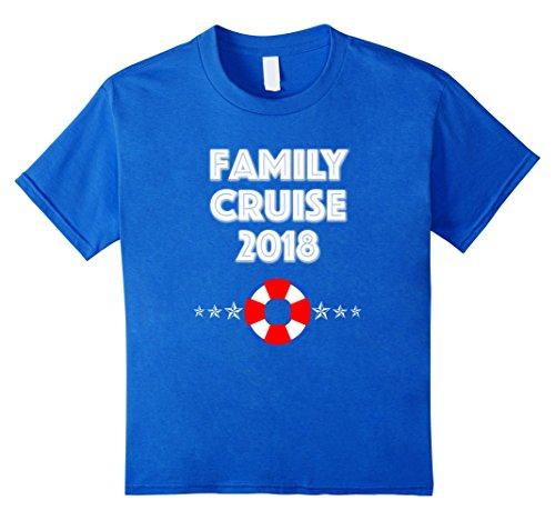 Kids Family Cruise 2018 Family Vacation Group Fun Star T Shirt 4 Royal Blue