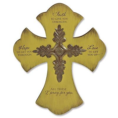 Amazon.com: Abbey Press Faith, Hope, Love Cross - Wall Décor ...