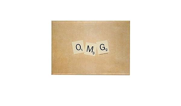 CafePress – Scrabble OMG – Imán rectangular para nevera, 2 x 3 pulgadas: Amazon.es: Hogar