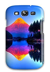 For Galaxy S3 Premium Tpu Case Cover Psychedelic Mountain Protective Case