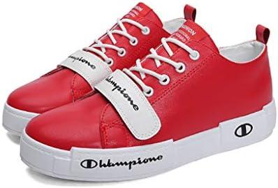 カジュアルシューズ 夏のラウンドヘッドのレースアップシューズ、BTS防弾青年グループの潮の靴、革の通気性と消臭のメンズシューズ、カジュアルスポーツの靴がいっぱい (Color : Red, Size : 42)