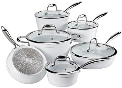 Lagostina Bianco Ceramic Forged Cookware Set 11 Pc Amazon Ca Home Kitchen