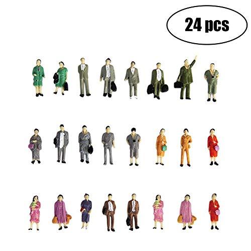 - Mini People Figurine 24Pcs Hand Painted Tiny Passengers Statue Sand Table Model DIY Desktop Ornament