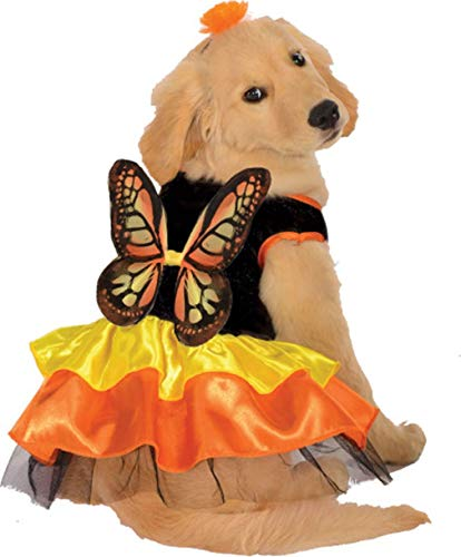 Melonie Home Monarch Butterfly Doggy Costume - Halloween Pet Accessories - Size Small ()