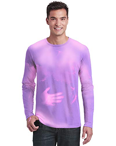 Adult Shadow - Shadow Shifter Adult Unisex Color Changing Long Sleeve T-Shirt Heat Sensitive (X-Large, Purple to Pink)