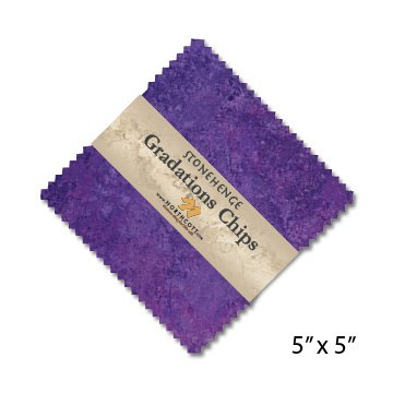 s Brights Amethyst Stone Chips 42 5-inch Squares Charm Pack Northcott (Linda Chip)