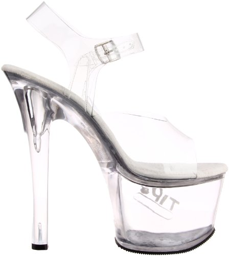Pleaser High Heels TipJar-708-5 transparent Größe US 11 / EU 41/42