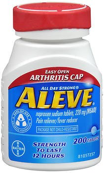 - Aleve Tablets Easy Open Arthritis Cap 200 Tablets (Pack of 3)