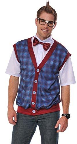 Rubie's Men's Nerd Male Costume, As Shown,