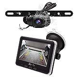 Wireless Backup Camera Kit,IP68 Waterproof License Plate Reverse Rear View Back Up Car